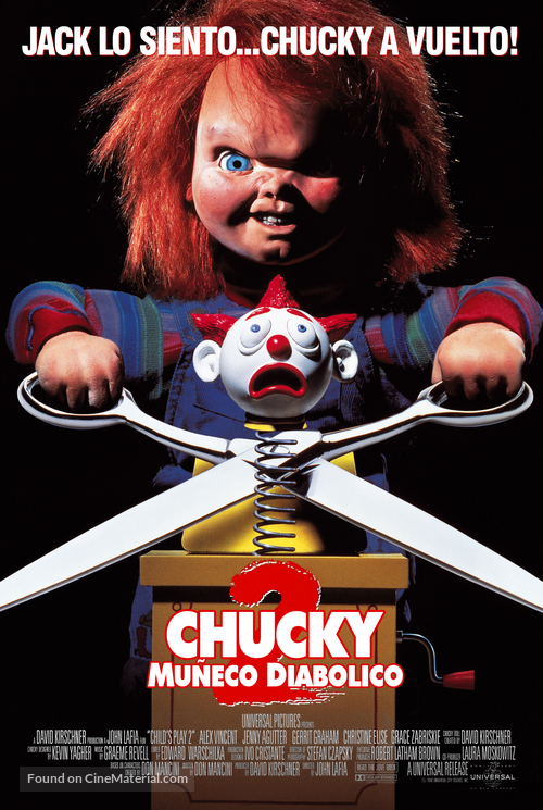 Child's Play 2 - Argentinian Movie Poster