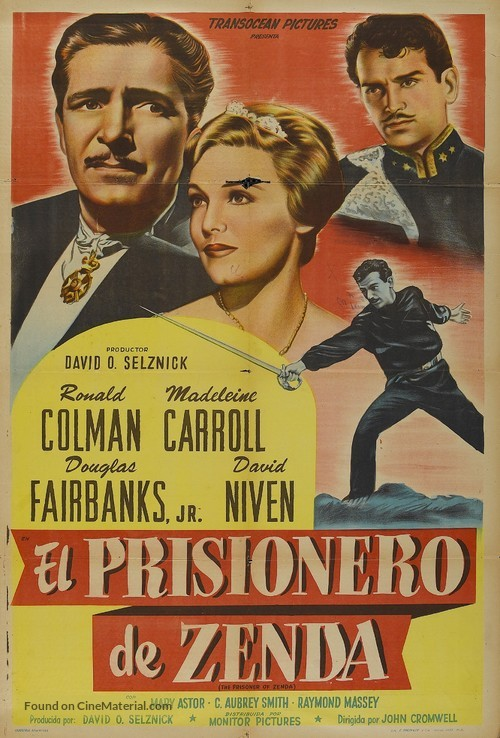 The Prisoner of Zenda - Argentinian Movie Poster