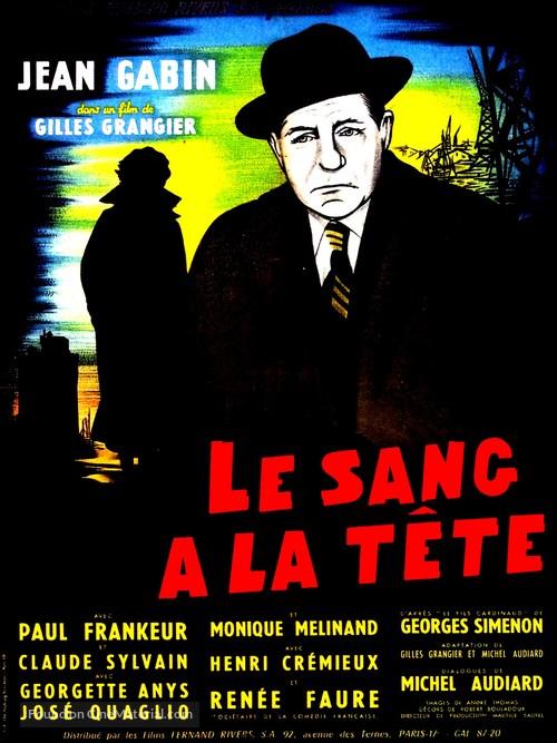 Le sang à la tête - French Movie Poster