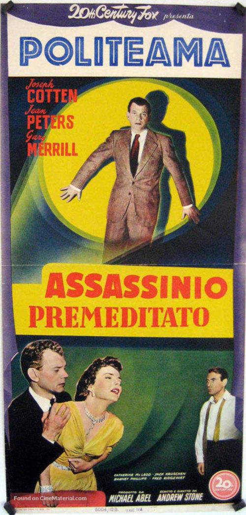 A Blueprint for Murder - Italian Movie Poster