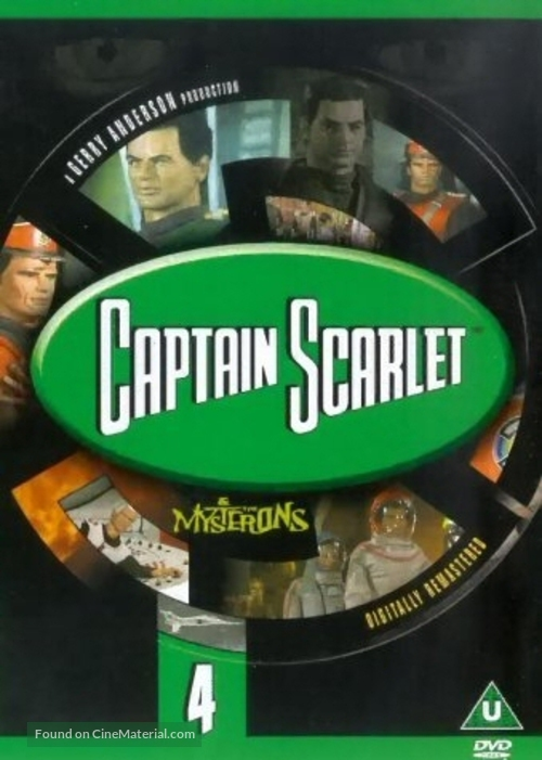"""Captain Scarlet and the Mysterons"" - British DVD movie cover"