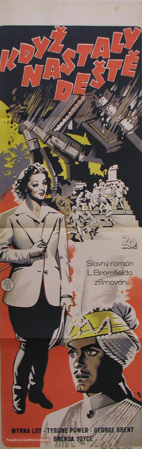 The Rains Came - Czech Movie Poster