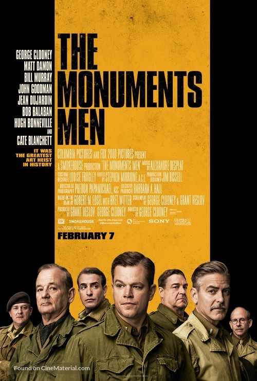The Monuments Men - Movie Poster