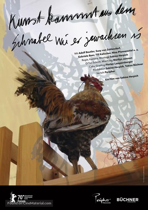Kunst kommt aus dem Schnabel wie er gewachsen ist - German Movie Poster