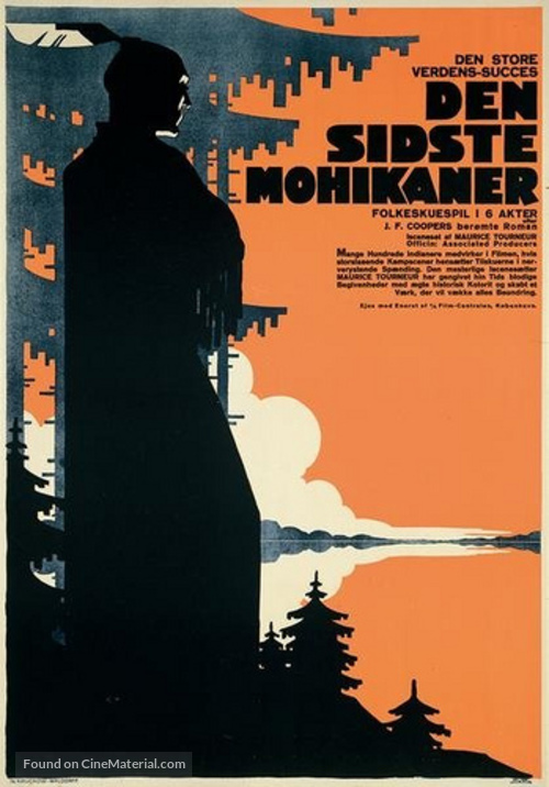 The Last of the Mohicans - Danish Movie Poster