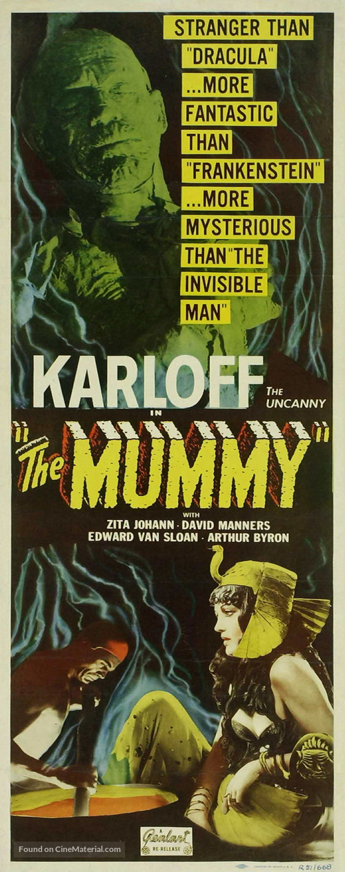 The Mummy - Re-release movie poster