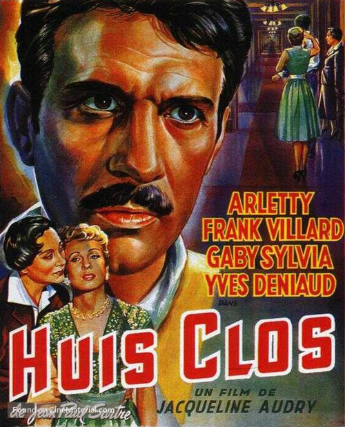 Huis clos (1954) French movie poster