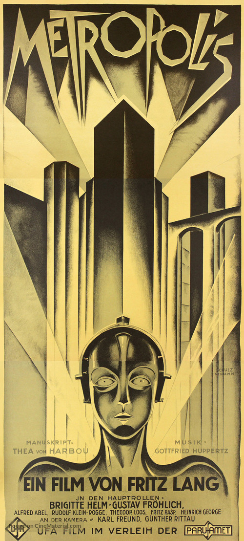 Metropolis - German Movie Poster