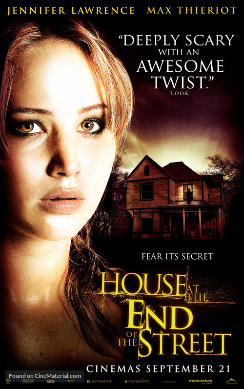House at the End of the Street - Canadian Movie Poster