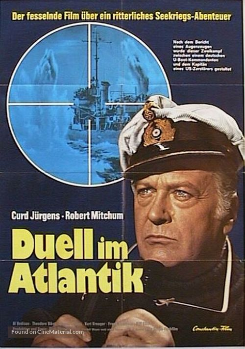 The Enemy Below - German Movie Poster