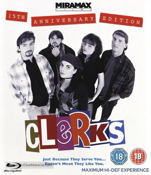 Clerks. - British Blu-Ray movie cover