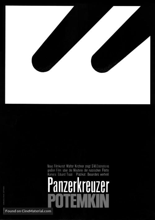 Bronenosets Potyomkin - German Movie Poster