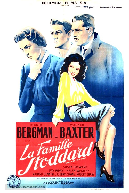Adam Had Four Sons - French Movie Poster