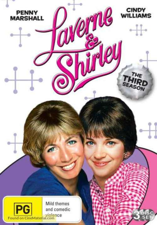 """Laverne & Shirley"" - Australian DVD movie cover"