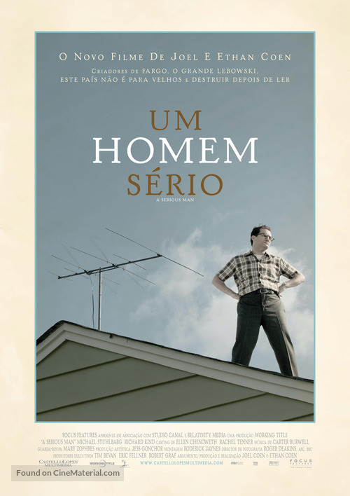 A Serious Man - Portuguese Movie Poster