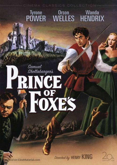 Prince of Foxes - DVD movie cover