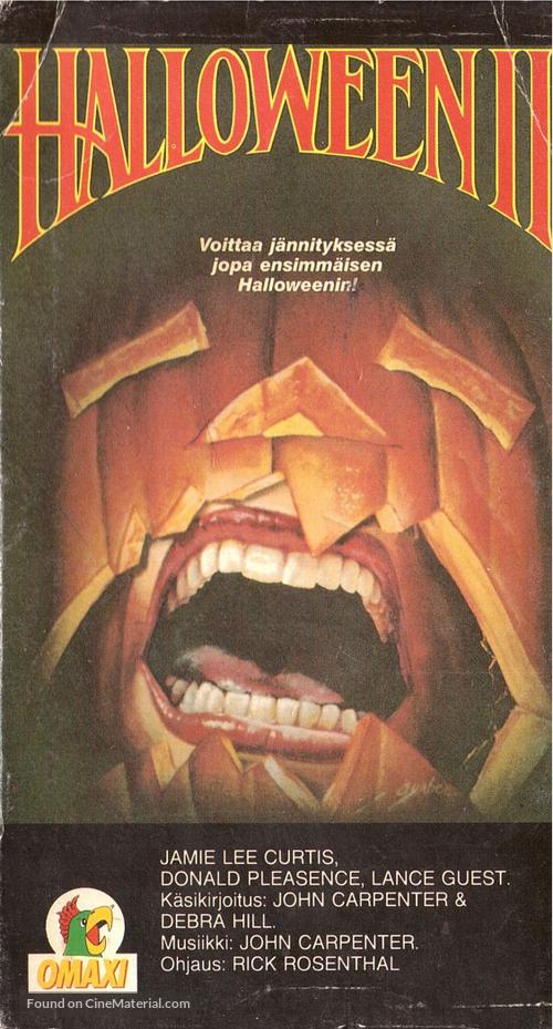 Halloween II - Finnish VHS movie cover