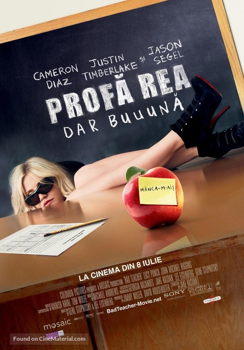 Bad Teacher - Romanian Movie Poster