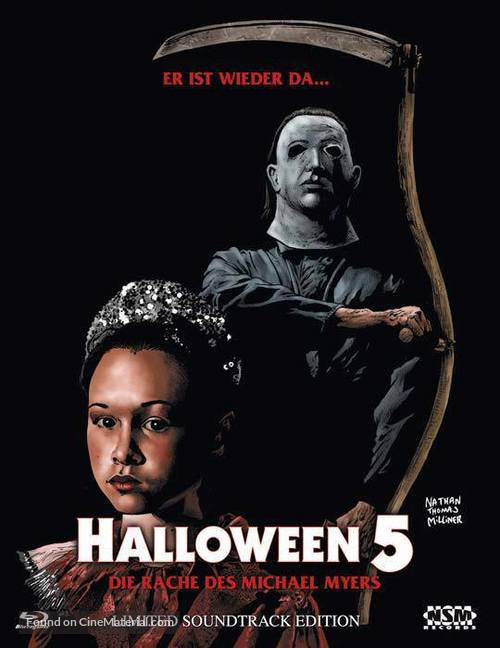 Halloween 5 - Austrian Blu-Ray movie cover
