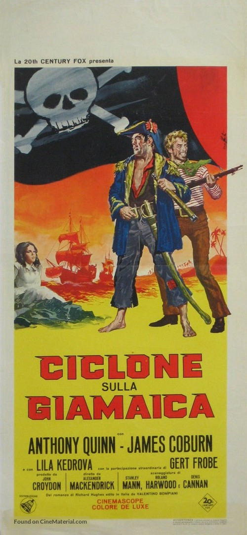 A High Wind in Jamaica - Italian Movie Poster