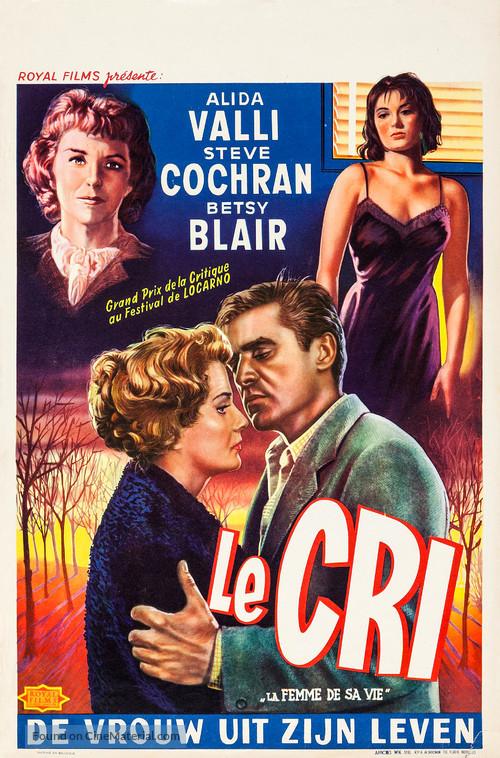Il Grido - Belgian Movie Poster