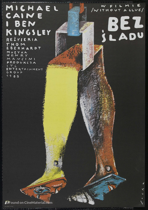 Without a Clue - Polish Movie Poster