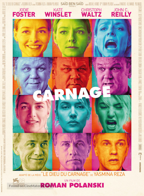 Carnage - French Movie Poster