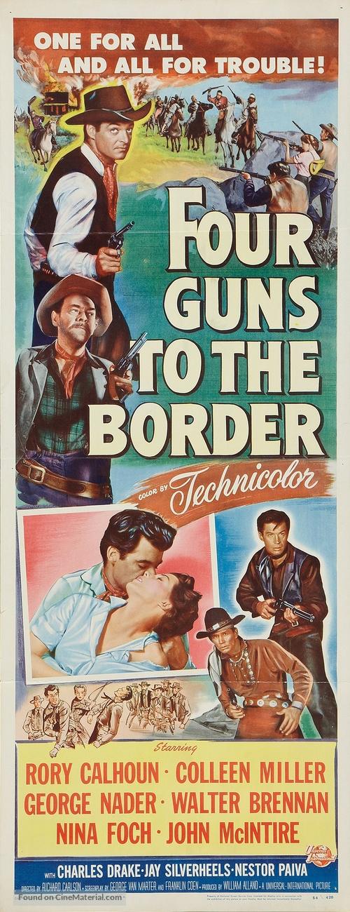 Four Guns to the Border - Movie Poster