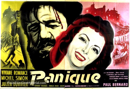Panique - French Movie Poster