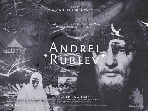 Andrey Rublyov - British Movie Poster