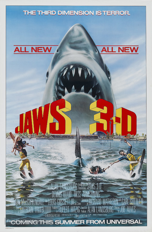 Jaws 3D - Advance poster