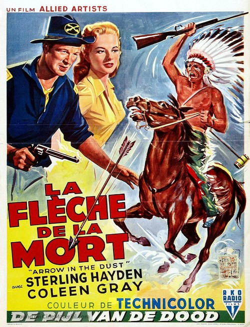 Arrow in the Dust - Belgian Movie Poster