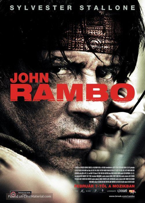 Rambo - Hungarian poster