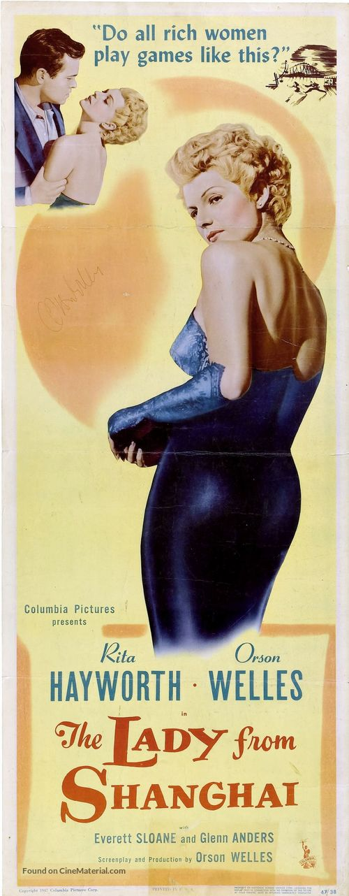 The Lady from Shanghai - Theatrical movie poster