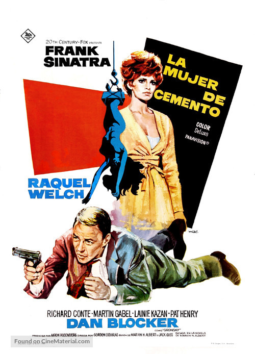 Lady in Cement - Spanish Movie Poster