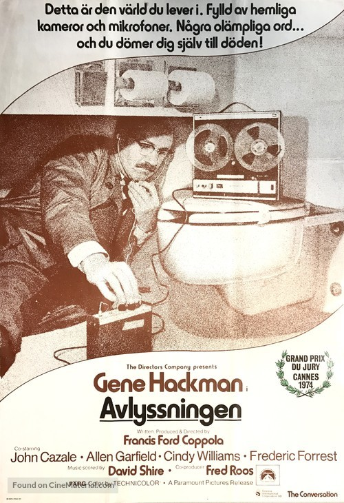 The Conversation - Swedish Movie Poster