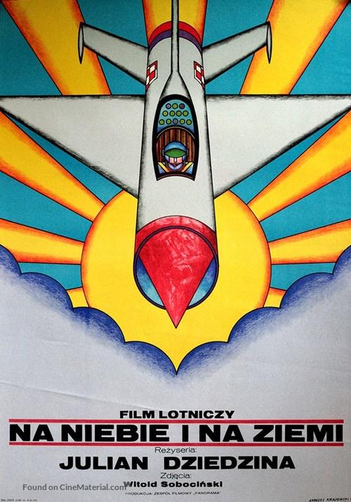Na niebie i na ziemi - Polish Movie Poster