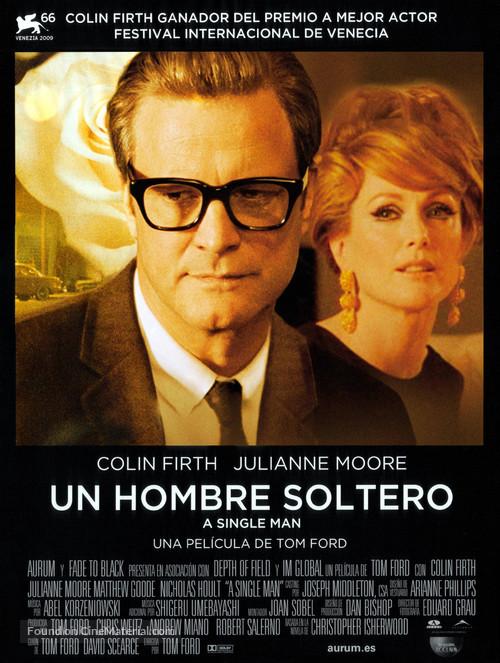 A Single Man - Spanish Movie Poster