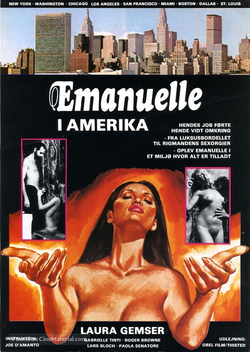 Emanuelle In America - Danish Movie Poster