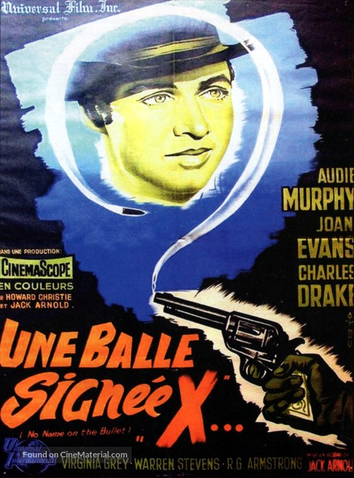 No Name on the Bullet - French Movie Poster