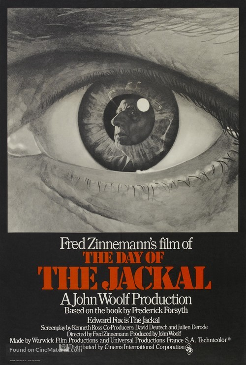The Day of the Jackal - British Movie Poster