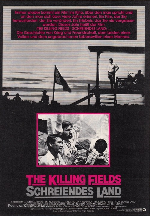 The Killing Fields - German Movie Poster