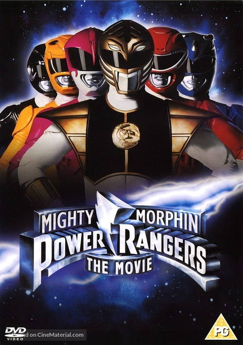 Mighty Morphin Power Rangers: The Movie - British DVD cover