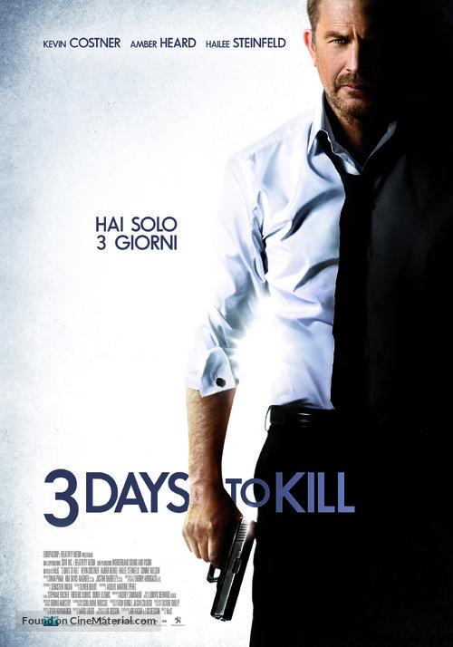 3 Days to Kill - Italian Movie Poster