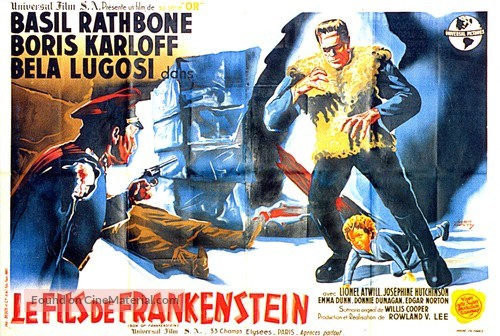 Son of Frankenstein - French Movie Poster