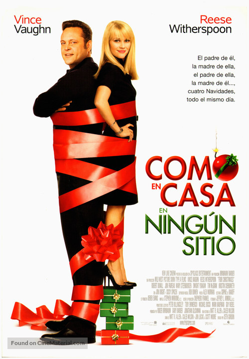 Four Christmases - Spanish Movie Poster