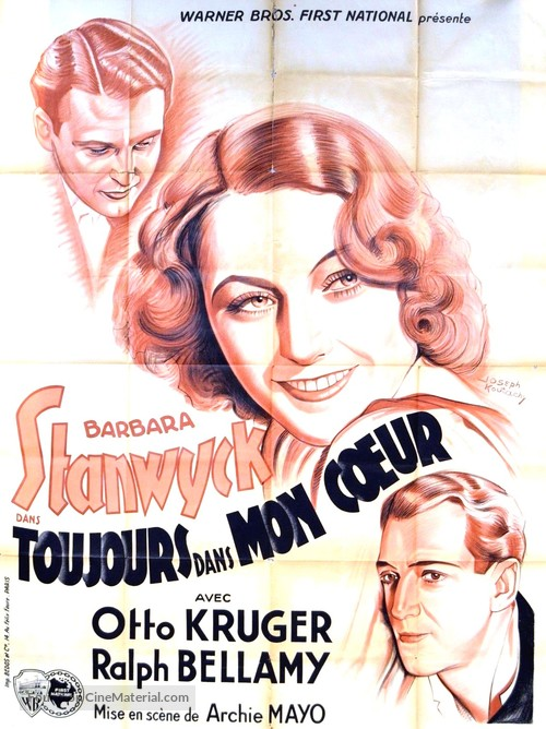Ever in My Heart - French Movie Poster