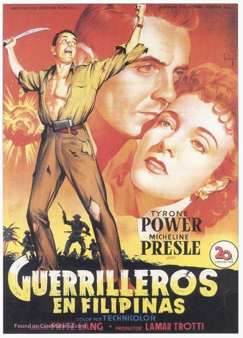 American Guerrilla in the Philippines - Spanish Movie Poster