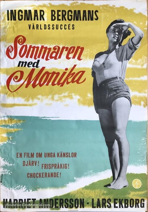 Sommaren med Monika - Swedish Movie Poster