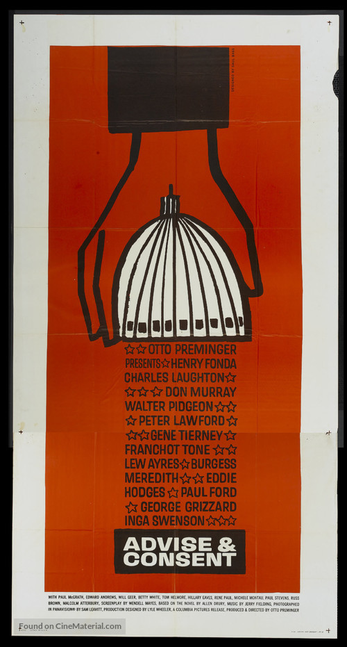 Advise & Consent - Theatrical movie poster